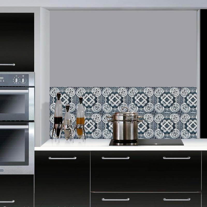Adesivo Azulejo Decorativo  Cozinha  Banheiro  Cód 015  R$ 19,98 no Merca # Adesivo Em Azulejo De Cozinha