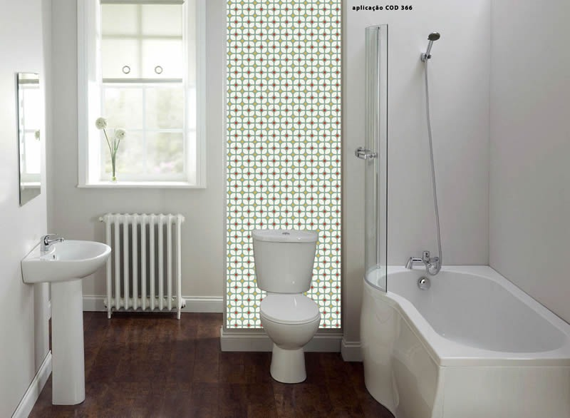 pisos azulejos para banheiros pequenos -> Banheiro Pequeno Adesivo