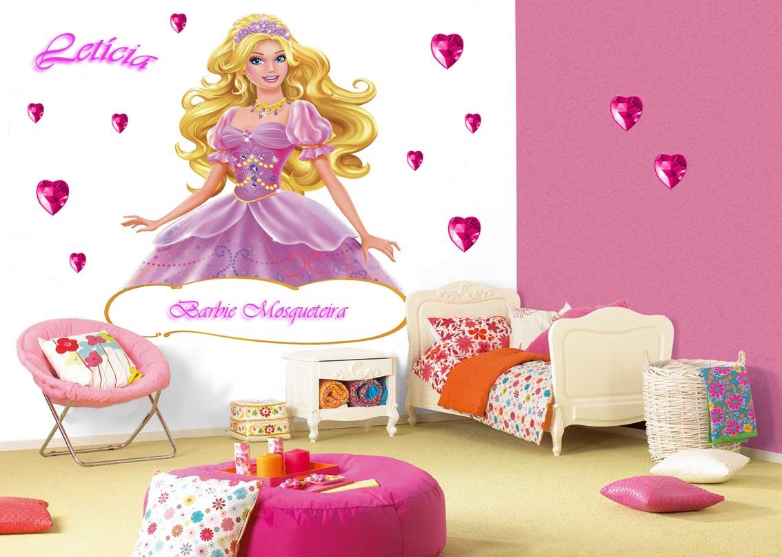 Adesivo De Parede Da Barbie Decoração Infantil Pictures to pin on Pinterest