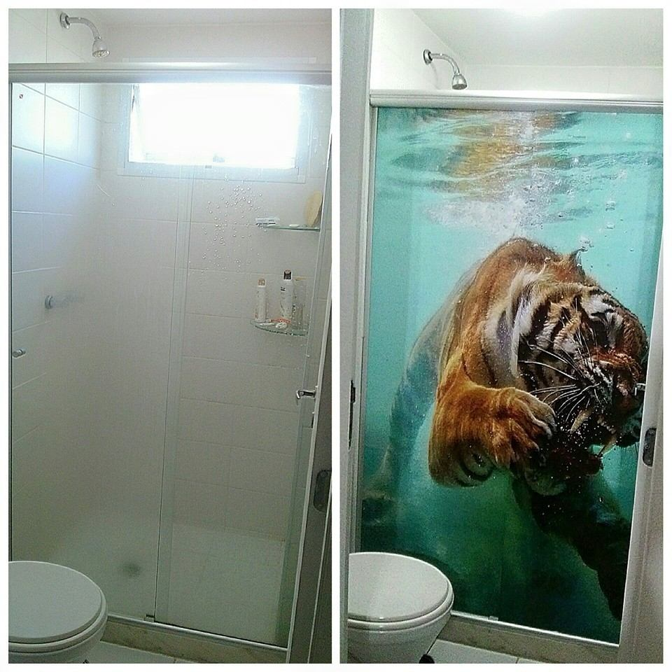Armario Pequeno Para Banheiro ~ Adesivo Box Banheiro R$ 80,00 no MercadoLivre