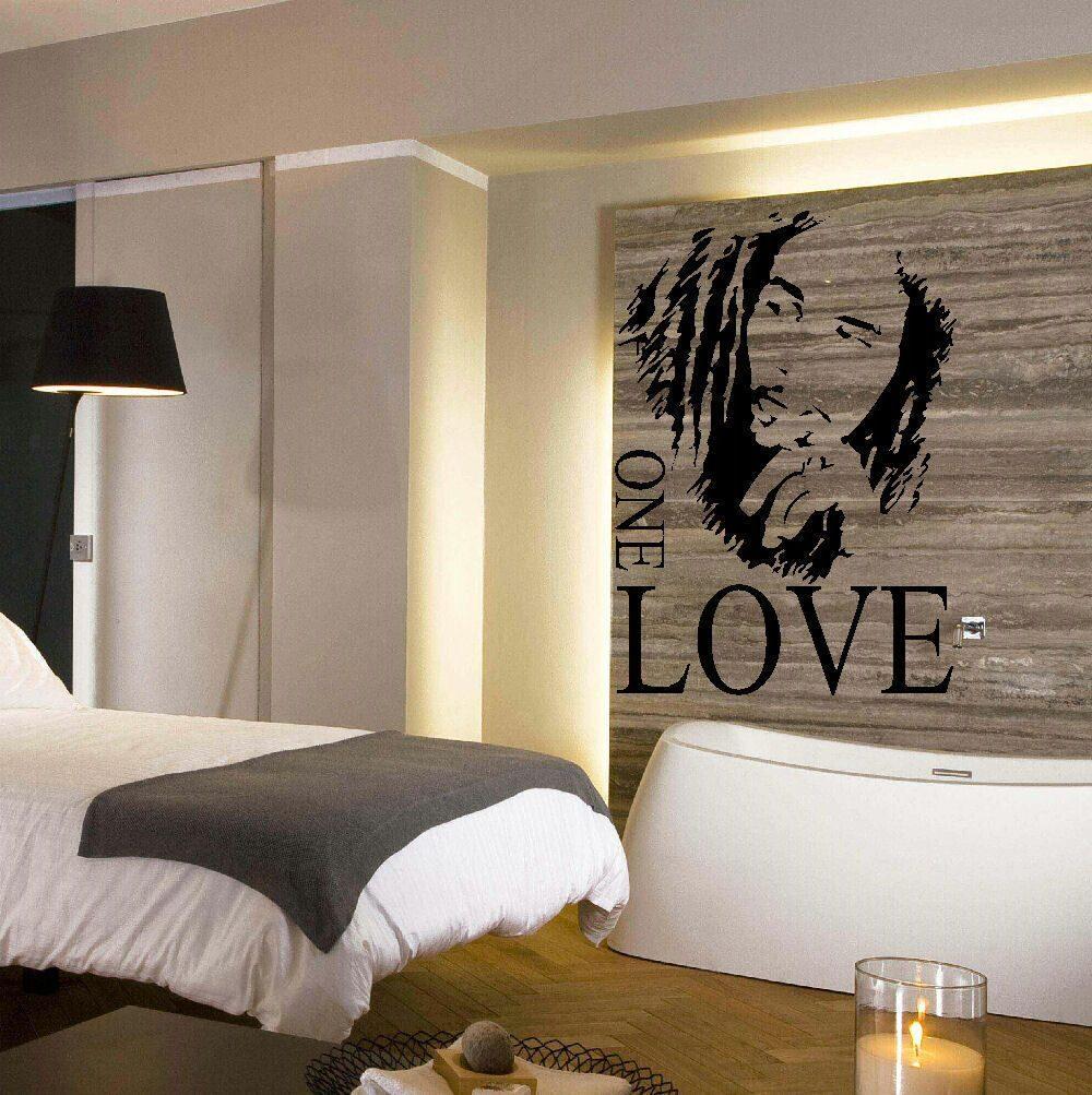 Adesivo De Parede Bob Marley One Love  R$ 44,90 no MercadoLivre