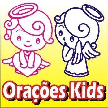 Adesivo De Parede Decorativo Orações Infantis Santo Anjo