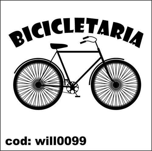 Artesanato Em Madeira Para Jardim ~ Adesivo De Parede Esporte Silhueta Bicicleta Bike Will0099 R$ 89,96 no MercadoLivre