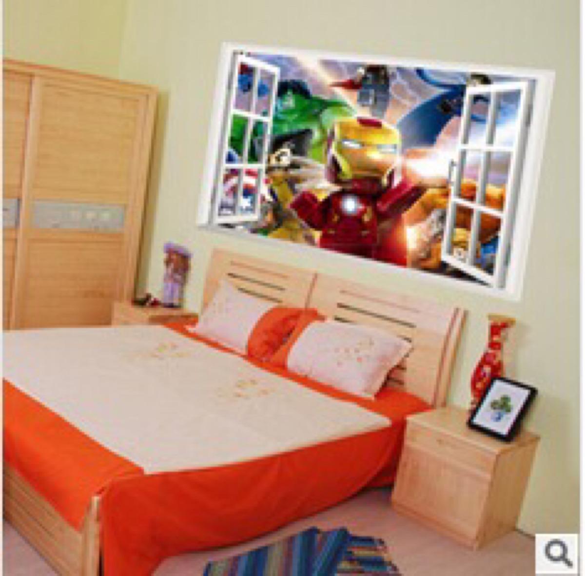 Armario Oficina Con Llave Ikea ~ Adesivo De Parede Janela Falsa Vingadores R$ 79,00 no MercadoLivre