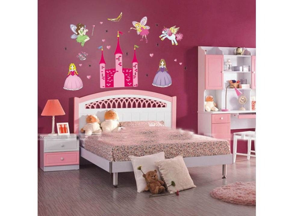 Acessorios Para Quarto Das Princesas ~ Adesivo De Parede Quarto Infantil Castelo Das Princesas  R$ 49,90 no