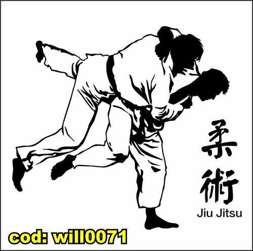 Artesanato Tiradentes Mg ~ Adesivo De Parede Silhueta Luta Jiu Jitsu Academia Will0071 R$ 108,86 no MercadoLivre