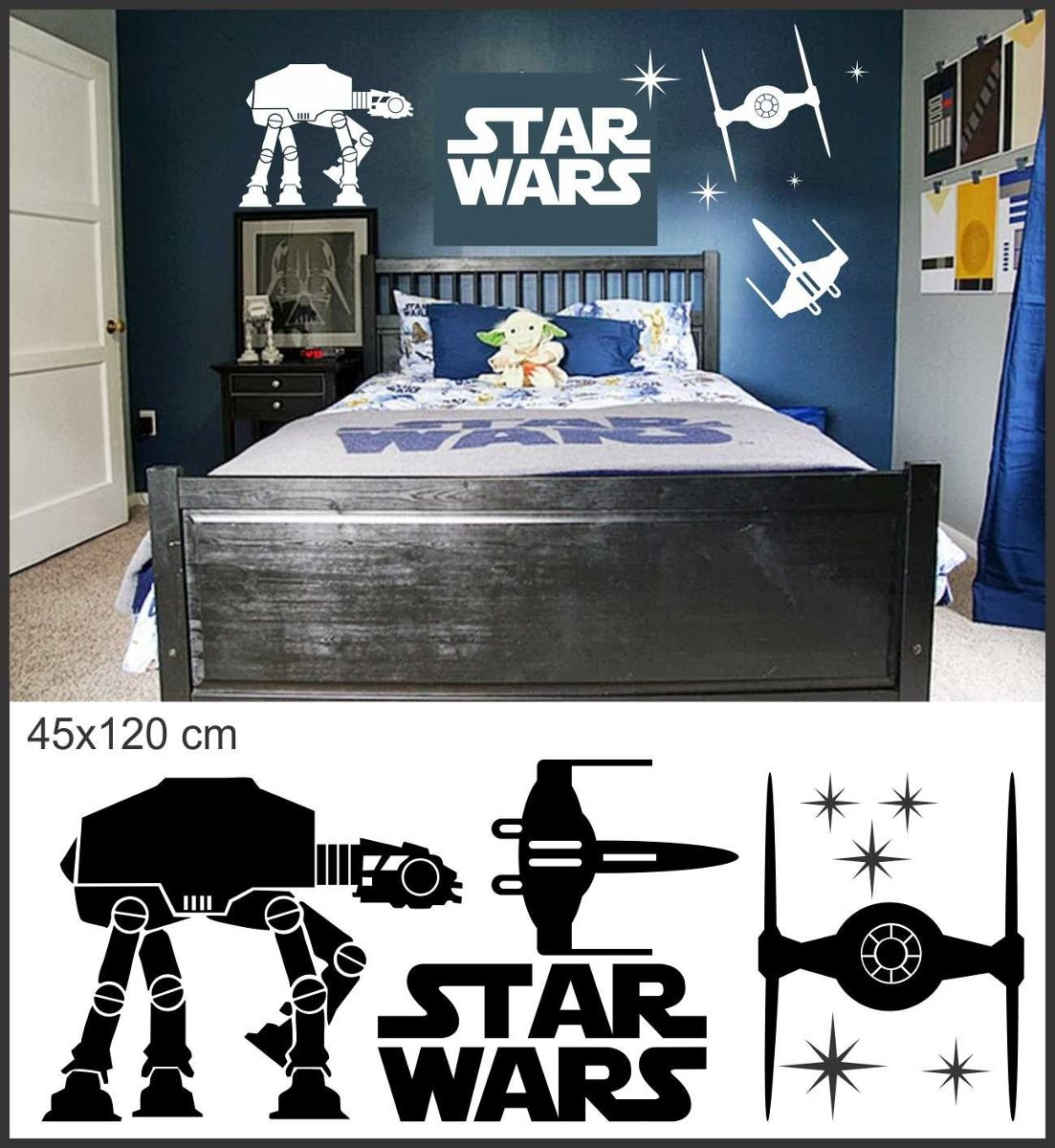 Adesivo Parede Dente De Leão ~ Adesivo De Parede Star Wars Dartwader Jedy Guerra R$ 79,90 no MercadoLivre