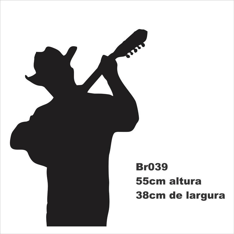 Artesanato Feltro Passo A Passo ~ Adesivo De Parede Viola Violeiro Viol u00e3o Violonista Br039 R$ 48,60 no MercadoLivre