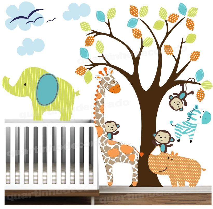 Adesivo Decoração Parede Quarto Bebe Infantil Zoo Animais  ~ Adesivo De Parede Para Quarto De Bebe Aliexpress