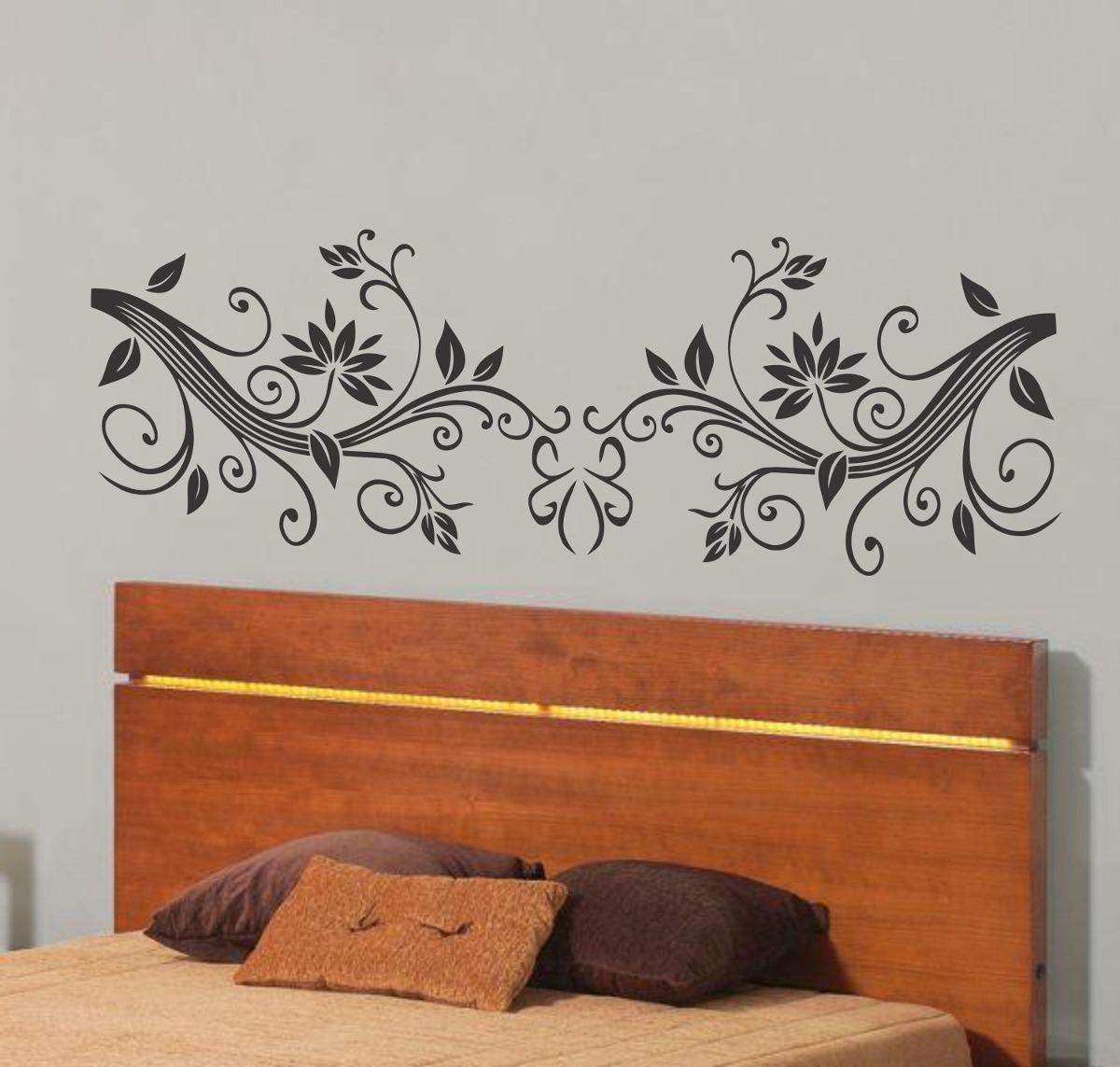Ideias Artesanato Decoração ~ Adesivo Decorativo Cabeceira De Cama De Casal Lindos Modelos R$ 43,98 no MercadoLivre