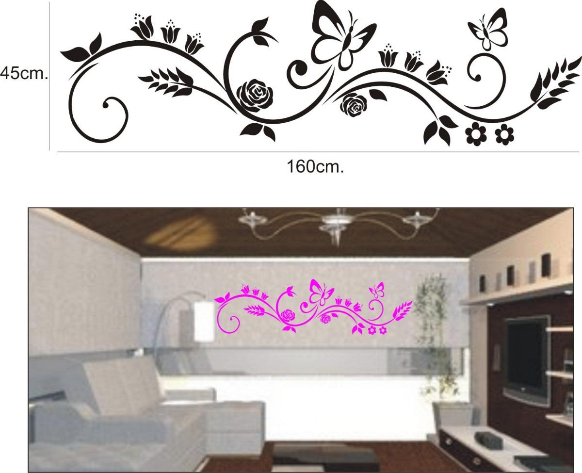 Aparador Verde Envejecido ~ Adesivo Decorativo De Parede, Lindo Floral Com Borboleta R$ 39,96 no MercadoLivre