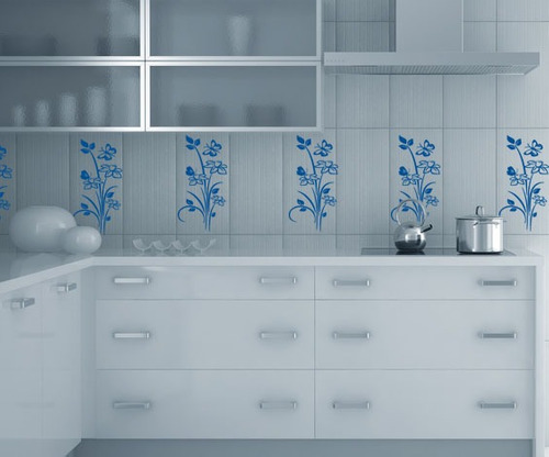 Adesivo Flor De Hibisco ~ Adesivo Decorativo Kit Floral Azulejos Vidros Banheiro R$ 39,99 no MercadoLivre