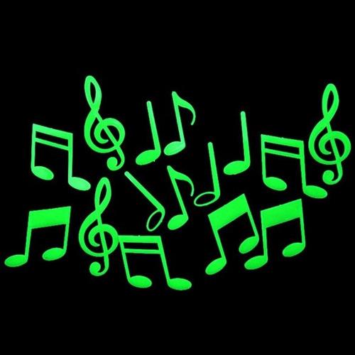 Armario Segunda Mano Mallorca ~ Adesivo Fluorescente Neon Nota Musical Estrela R$ 13,90 no MercadoLivre