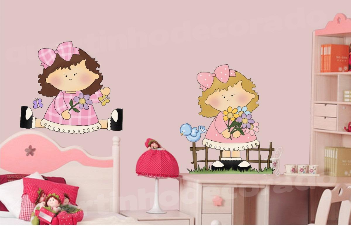 Adesivo Infantil Boneca Decorativo Parede Quarto Bebe Menina