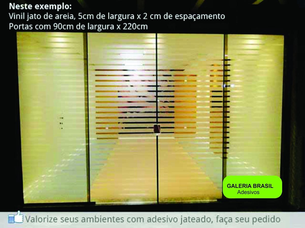 Adesivo Jateado Listras Para Portas De Blindex R$ 69 99 no  #75B01B 1200x900 Adesivo Blindex Banheiro