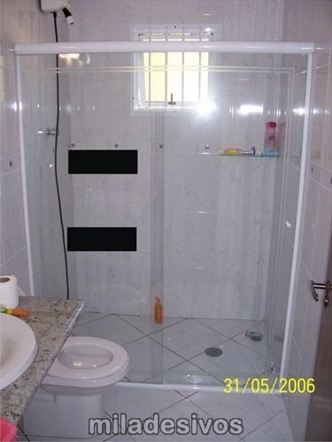 Adesivo Para Decoração De Box Blindex, Banheiro tarja Preta  R$ 27,60 no Me -> Adesivo Para Decoracao De Banheiro