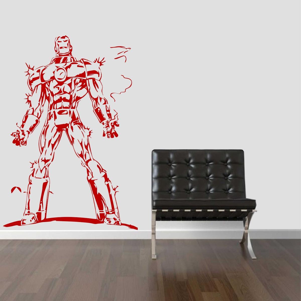 Como Conseguir Adesivo De Idoso ~ Adesivo Parede Super Herói Homem De Ferro Os Vingadores R$ 29,99 no MercadoLivre