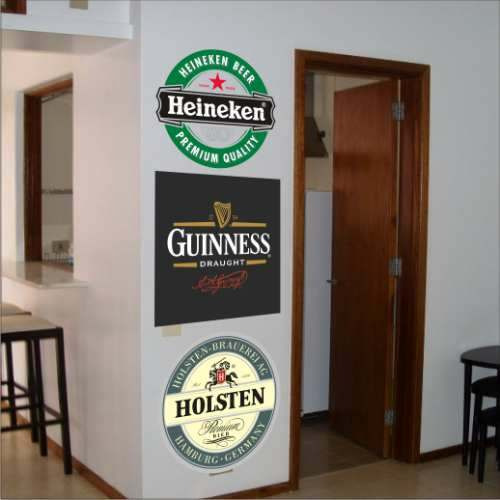 Adesivos De Parede, Geladeiras, Cerveja 10 Unidades