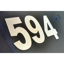 Números Inox Brilhante Para Casas Com 20 Cm X 1mm