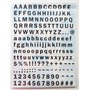 Adesivo Para Scrapbook Alfabeto Texturizado
