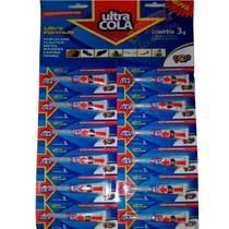 Adesivo Instantaneo Universal Cartela 12un (bond) Ultra Cola