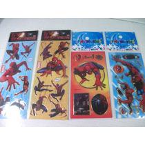 Homem Aranha Kit Cartela Adesivo Stickers C/ 12 Cartelas