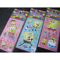 Bob Esponja Kit Adesivo Stickers C/ 12 Cartelas