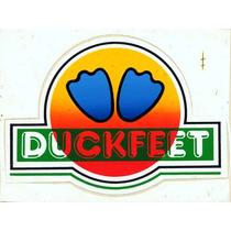 Adesivo Surf Duckfeet - Anos 80 - 14x10,5 Raríssimo