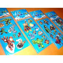 Vingadores Kit Adesivo Stickers C/ 12 Cartelas