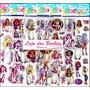 Kit Lote Com 6 Cartelas De Adesivos 3d Fofo Monster High !