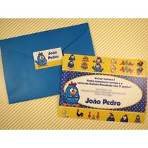 24 Convites Personalizado Infantil + 24 Tags + 24 Envelopes