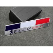 Emblema Peugeot Sport 308 3008 207 407 307 Aluminio Alloy !!
