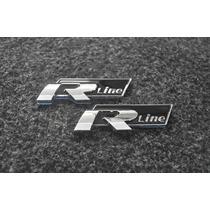 Emblema R Line Vw Tiguan Amarok Jetta Golf !!! 2un