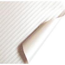 Adesivo Envelopamento Fibra De Carbono Branca Tuning 1x3m
