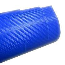 Adesivo Envelopamento Fibra De Carbono Azul 1x1m Frete Free