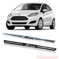Kit Soleira Resinada Porta Ford New Fiesta 4 Peças