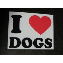 Adesivo Eu Amo Meu Cachorro Vinil Recorte A Laser