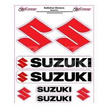 Adesivo Refletivo Moto Capacete Carro Suzuki M1 Frete Grátis