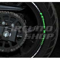 Friso Adesivo Refletivo Roda Moto Rec1 Ninja Kawasaki Z 750