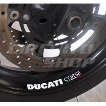 Kit Adesivos Capacete Roda Moto Ducati Corse + Frete Grátis