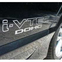 Adesivo Tuning Carro Honda Civic I-vtec Dohc + Frete Grátis