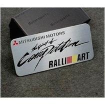 Emblema Mitsubishi Ralliart L200 Triton Pajero Lancer Asx
