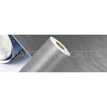 Adesivo Aço Prata Escovado,vinil Decorativo Geladeira Moveis
