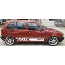 Faixas Laterais Fiat Uno Abarth Team Tuning Racing