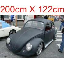 Adesivo Preto Fosco Automotivo Envelopamento Teto 200x122cm