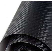 Adesivo Envelopamento Fibra Carbono Preta 0.5x1.5m Fretefree