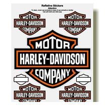 Adesivo Refletivo Capacete Moto Harley Davidson M4 Fret Free