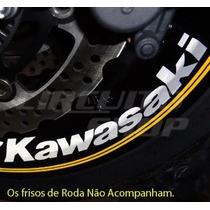 Kit Adesivo Roda Super Large Moto K Kawasaki + Frete Grátis