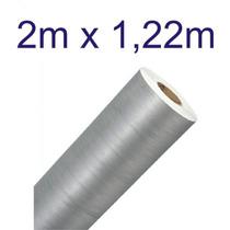 Adesivo Aço Escovado Prata Envelopamento Automotivo 2mx1,22m