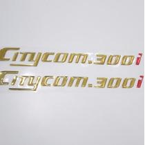 Adesivo Rabeta Relevo Moto Dafra Sym Citycom 300 I Cromado